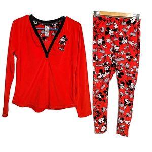 Mickey Mouse 2 Pc Pajama Set BNWOT
